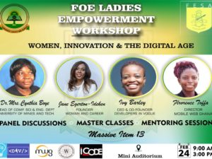 University of Mines and Technology Tarkwa Ghana, Engineering Faculty : Ladies empowerment workshop Feb. 2018